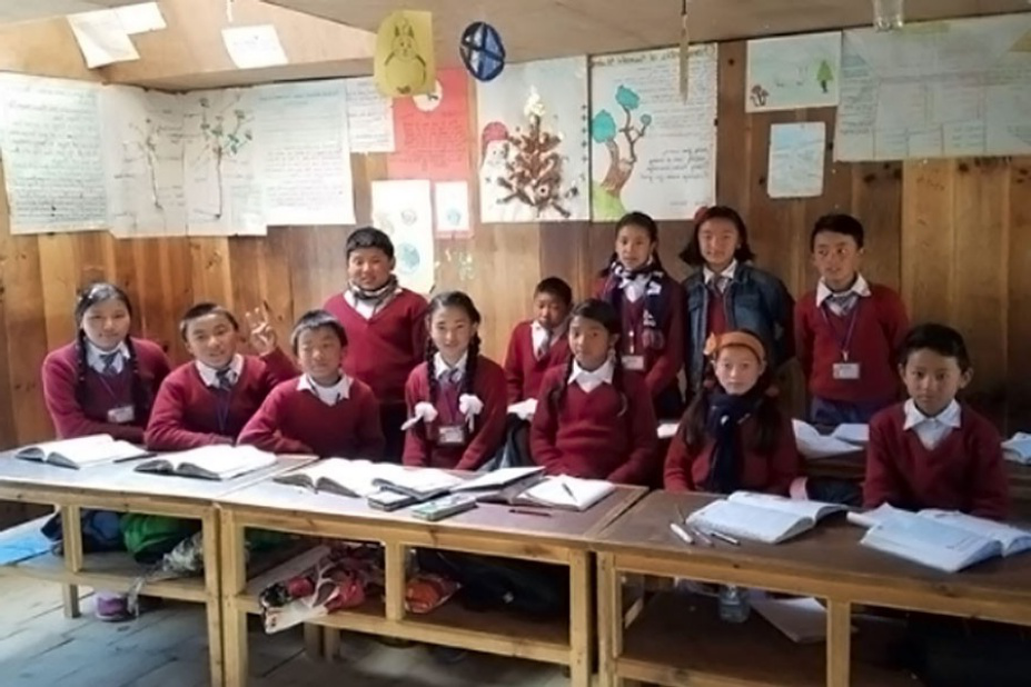 Students in a Shree Janesewa classroom.