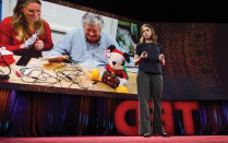 Holly Cohen speaking at TED2016–Dream, in Vancouver, Canada.