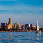 Buffalo as seen from Lake Erie.